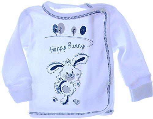 Hemdchen Wickelshirt Babyhemdchen Shirt Flügelhemdchen mit Knöpfe 56 62 Weiß Hemd (56)
