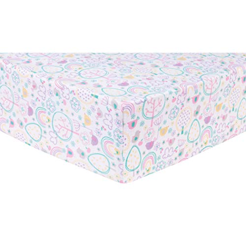 Trend Lab Rainbow Birds Deluxe Flannel Fitted Crib Sheet