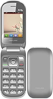 Flip Phone 3G GSM Unlocked BIG BUTTONS Dual Sim Maxwest 3G FLIP Bluetooth Mp3 Camera SOS Elderly (Silver)