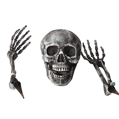 ARTOCT Skelett Totenkopf Deko, 2020 Kreativ 3 Stück Halloween Dekoration Halloween Grausigkeit begraben Lebend Skelett Schädel Garten Hof Rasen Dekos