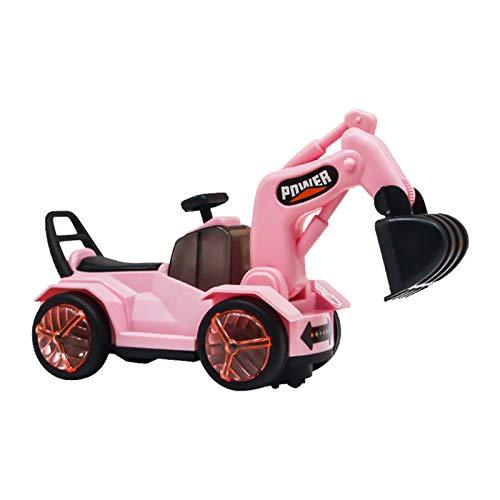 Juguete de excavadora para niños, luz musical eléctrica, universal, vehículo de ingeniería,...