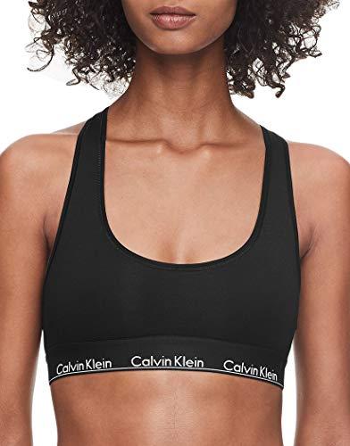 Calvin Klein Women's Regular Modern Cotton Bralette, Black Waistband, L