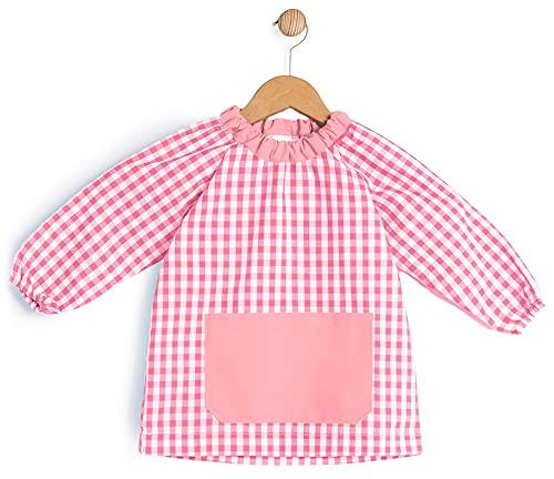 BeBright Bata Escolar Infantil, Baby Escolar Niña y Niño, Babi para Colegio y Guarderías- Fabricado en España (Rosa, 2-3 años)