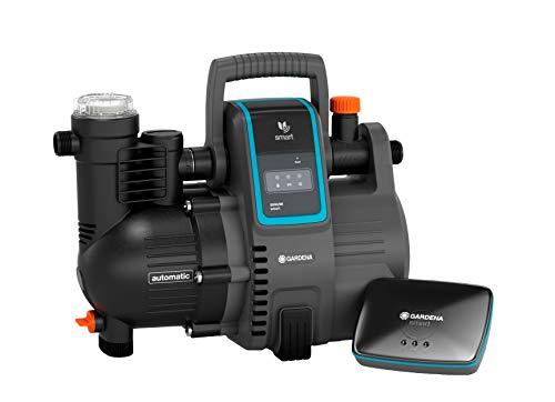 Gardena smart Pressure Pump Set: bomba de agua doméstica automática controlable a través de app / tablet, incluye smart gateway, caudal 5000 l/h, protección contra el funcionamiento en seco (19106-20)