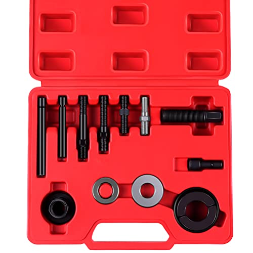 ECCPP Power Steering Pump Pulley Puller Remover Installer Alternator AC 13pc Tool Kit Fit for GM for Ford for Chrysler engines