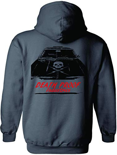 Death Proof Industries Speed Shop Hooded Sweatshirt Hoodie (3X-Large, Charcoal)