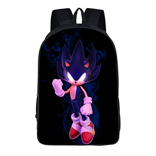 Sonic School Bag 16-inch Sonic Elementary and High School Decompression Large Capacity Backpack
