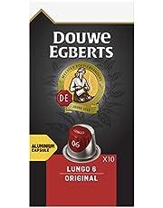 Douwe Egberts Koffiecups Lungo Original (100 Capsules, Geschikt voor Nespresso* Koffiemachines, Intensiteit 06/12, Medium Roast Koffie, UTZ Gecertificeerd), 10 x 10 Cups