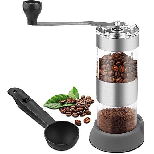 JJFU Koffie Grinders Molen Molen Handmatige Koffie Grinder Draagbare Koffiebonen Grinder Met No-Slip Siliconen Vouwen Handvat Conische Burr Molen