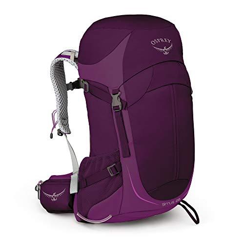 Osprey Sirrus 26  mochila de senderismo con ventilación para mujer: Ruska Purple