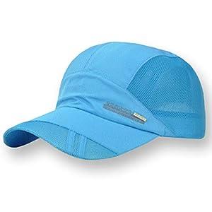 [キャプテン・ケイ] スポーツ キャップ 軽量 速乾 サイドメッシュ タイプ 7色展開 ユニセックス フリーサイズ 帽子 野球帽 アウトドア スポーツキャップ メッシュキャップ メッシュ 通気性抜群 ジョギング ランニング 野球 ベースボール スポーツ用 夏用 オシャレ カッコイイ 大きいサイズ 深め 大きめ 深い大きい uvカット おおきいサイズ つば長い つば長 つば広 つば平 冷感 ブルー
