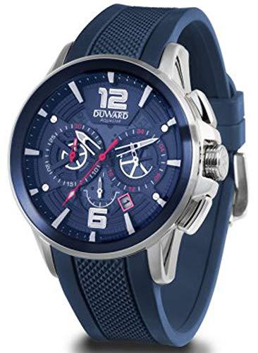 Duward aquastar Race Herren Uhr analog Automatik mit Silikon Armband D85530.05
