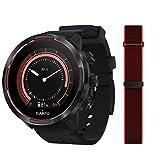 Suunto 9 Baro GPS-Sportuhr mit langer Batterielaufzeit und Herzfrequenzmessung am Handgelenk, Schwarz/Rot, SS050461000