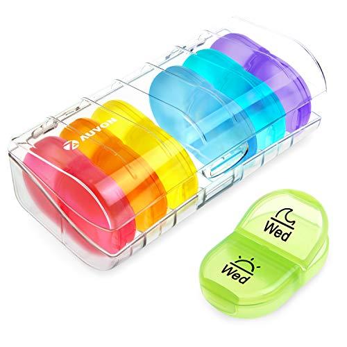 AUVON iMedassist Portable Daily Pill Organizer...