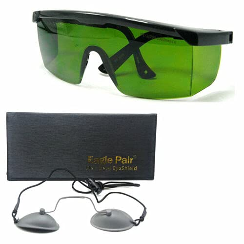 OD + 4 200nm - 2000nm Laser Protective Goggles IPL-2CE Safety Glasses (OD7 + Eyepatch Included)