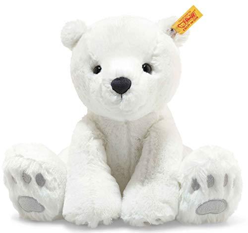 """Steiff 62636 Original Plüschtier Eisbär Soft Cuddly Friends Lasse, Kuscheltier ca. 28 cm, Markenplüsch Knopf im Ohr"""", Schmusefreund für Babys von Geburt an, weiß"""