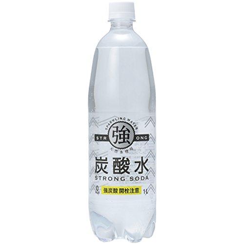 友桝飲料 強炭酸水 ペット 1L×15本