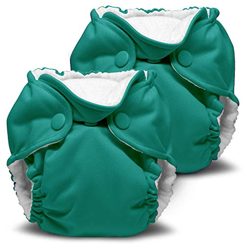 Product Image of the Kanga Care Lil Joey Newborn All in One AIO Cloth Diaper (2pk) Peacock 4-12lbs