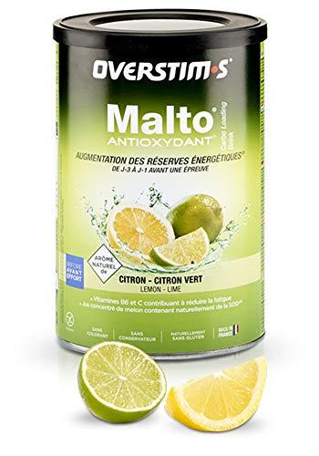 OVERSTIM.s - Malto Antioxidante (500 G) - Limón-Limón Verde - Bebida De Recarga Energética Para El Deporte 500 g