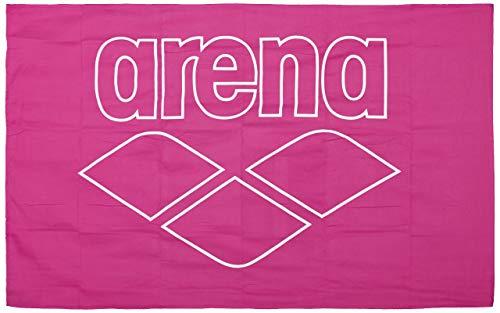 Arena Fresia - Toalla de Microfibra (150 x 90 cm), Color Rosa y Blanco