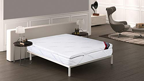 Imperial Comfort Topper viscoeslástico, polyester, wit, tweepersoonsbed, 200 x 120 x 8 cm