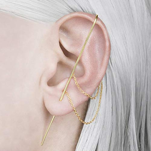 Richo Fashion - Pendientes de alambre con clip de oreja para mujer y niñas