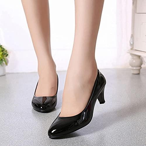 YHCS Bombas Femeninas Desnudas buca Poco Profunda Mujeres Zapatos de la Oficina...