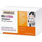 Ibu-Lysin-ratiopharm 400 mg Filmtabletten bei Schmerzen und Fieber, 50 St. Tabletten