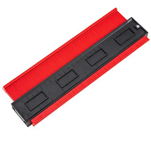 Madholly 10 inch/ 25cm Medidor Contornos Medidor de Perfil Medidor de contornos para suelo Contour Gauge Duplicator Medidor de contornos grande, haz mediciones más precisas