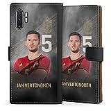 DeinDesign Étui Compatible avec Samsung Galaxy Note 10 Plus Étui Folio Étui magnétique Football...