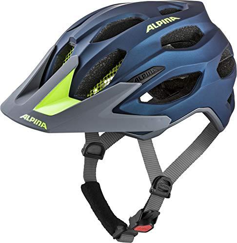ALPINA CARAPAX 2.0 Fahrradhelm, Unisex– Erwachsene, darkblue-neon, 52-57