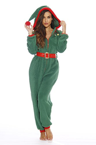 6414-S Elf Just Love Adult Onesie / Onesies / Pajamas/ Green/ Small