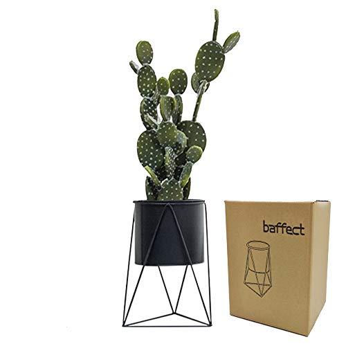 Baffect Supporto per Piante in Metallo con Vaso da Fiori, Vaso da Fiori in Ferro Titolare Vaso da Fiori per Giardino da casa Tavolo da Ufficio Arredamento da Interni (Nero)
