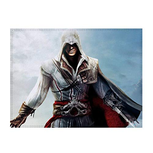 Placemat Assassins Creed Warrior - Mesa de comedor (resistente al agua, 2 unidades)