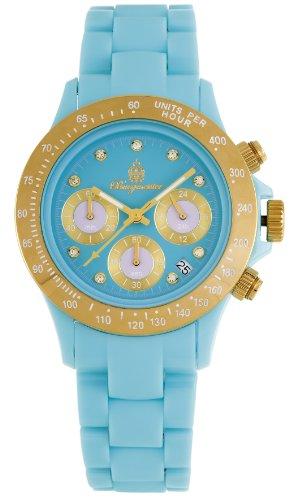 Burgmeister Armbanduhr für Damen mit Analog Anzeige, Quarz-Uhr und Polycarbonatarmband - Wasserdichte Damenuhr mit zeitlosem, schickem Design - klassische, elegante Uhr für Frauen - BM514-033 Florida