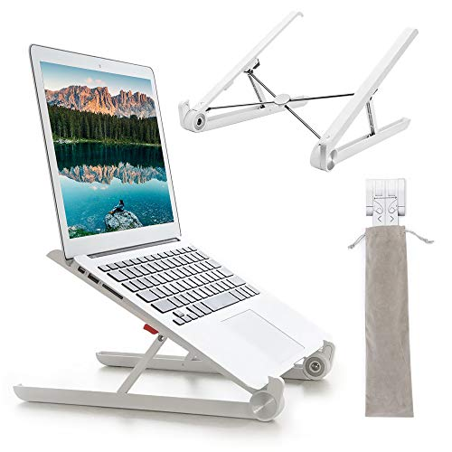 G-Color Laptop Stand,Portable Laptop Stand,Foldable Desktop Notebook Holder Mount,Adjustable Eye-Level Ergonomic Design,Ventilated Desktop Stand,Lightweight,Portable Stand for Laptop PC Tablet(White)