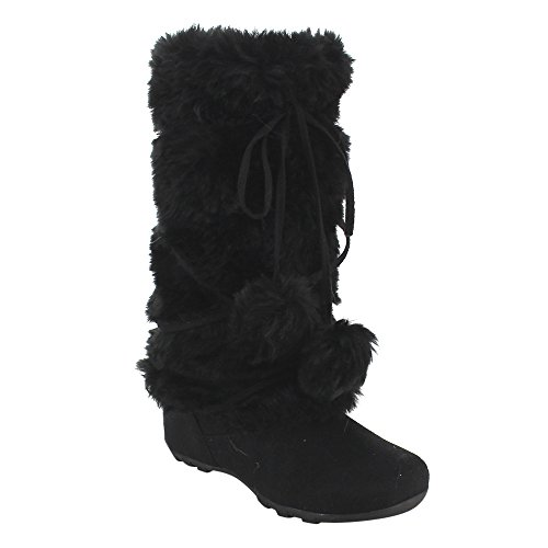 De Blossom Collection Women's Mid Calf Faux Fur Boots