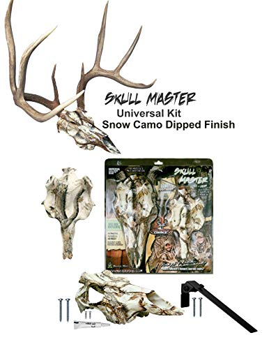 Mountain Mike's Reproductions Universal Skull Master Antler Mounting Kit, Snow Camo Dipped