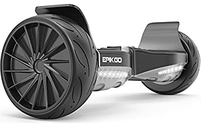 """EPIKGO Sport Balance Board Self Balance Scooter Hover Balancing Board -UL2272 Certified, All-Terrain 8.5"""" Racing Wheels, 400W Dual-Motor,LG Smart Battery, Board Hover Over Tough Road Condition-Black"""