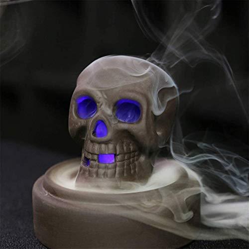 DANYIN LED Skull Cascata di riflusso del bruciatore di incenso con 10 Coni, Oggettistica for la casa, Aromaterapia, Ornamento Decorazioni di Halloween