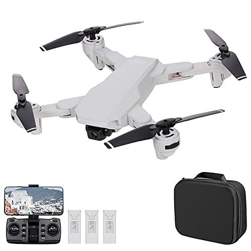 skrskr S103 Drone RC con Fotocamera 4K 5G WiFi GPS Posizionamento del Flusso Ottico Pieghevole Quadricottero RC con modalità Senza Testa Waypoint Segui modalità Surround 3 Batteria
