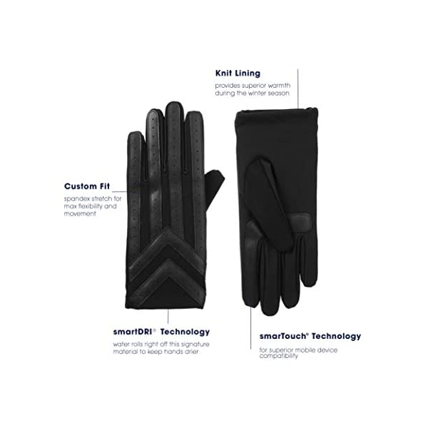 isotoner Boys' Men's Spandex Touchscreen Cold Weather Gloves