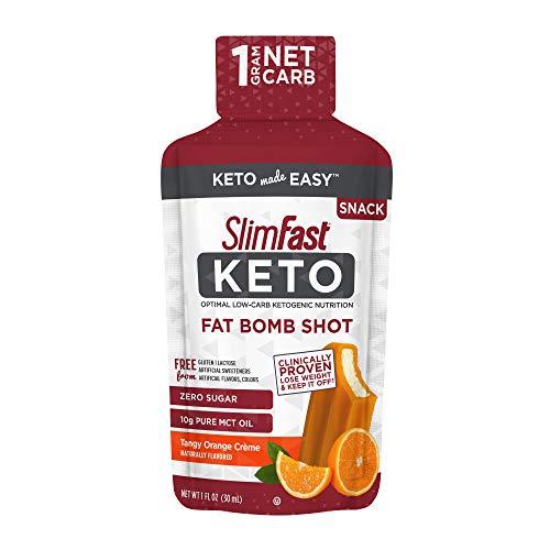SlimFast Keto Fat Bomb Shot - Tangy Orange Crème - 10 Fl Oz - 10 Count - Pantry Friendly 2
