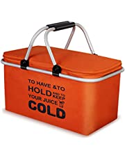 クーラーバスケット クーラーボックス 32L 大容量 クーラーバッグ 折り畳み式 ピクニックバスケット 保温保冷バッグ アウトドア お花見/バーベキュー/釣り/キャンプ/運動会/行楽など適用