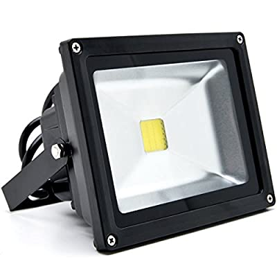 Biltek® 20W LED Flood Light Cool White High Power Outdoor Spotlights Industrial Lighting Home Security Lighting Outdoor House Business Surveillance Safety Wall Washer High Building Ad Billboard Garden