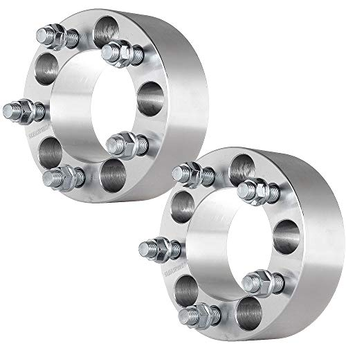 ECCPP 2X 2 inch 5x114.3mm 50mm Wheel Spacers 5 Lug 5x4.5 to 5x4.5 82.5mm fits for Ford Mustang Ranger Crown Victoria Explorer Jeep Cherokee Wrangler with 1/2x20 Studs
