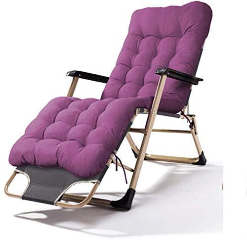 縦断勾配 Tumbonas Jardin Exterior Silla Plegable con Tumbona con cojín Acolchado y sillón reclinable para césped de Patio Interior para Acampar