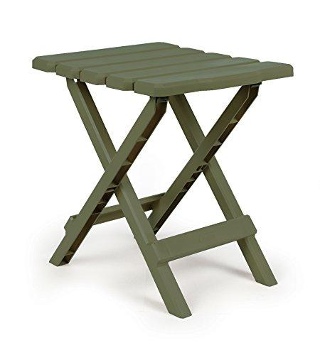 Camco 21042 Large QuickFolding Adirondack Table Plastic Sage