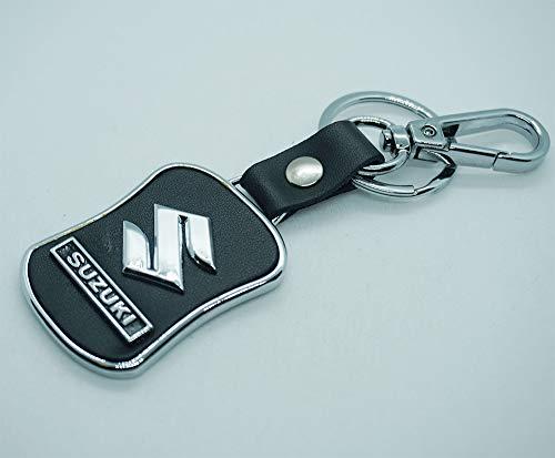 Llavero con logotipo de Suzuki, de piel negra, símbolo de...