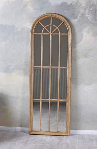 Sprossen Spiegel Esche Fensterspiegel halbrund Wandspiegel Standspiegel sna023 Palazzo Exklusiv